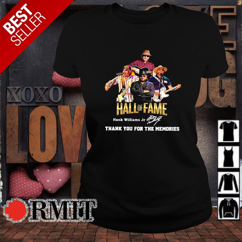 Hank Williams Jr Hall of Fame thank you for the memories s ladies-tee1