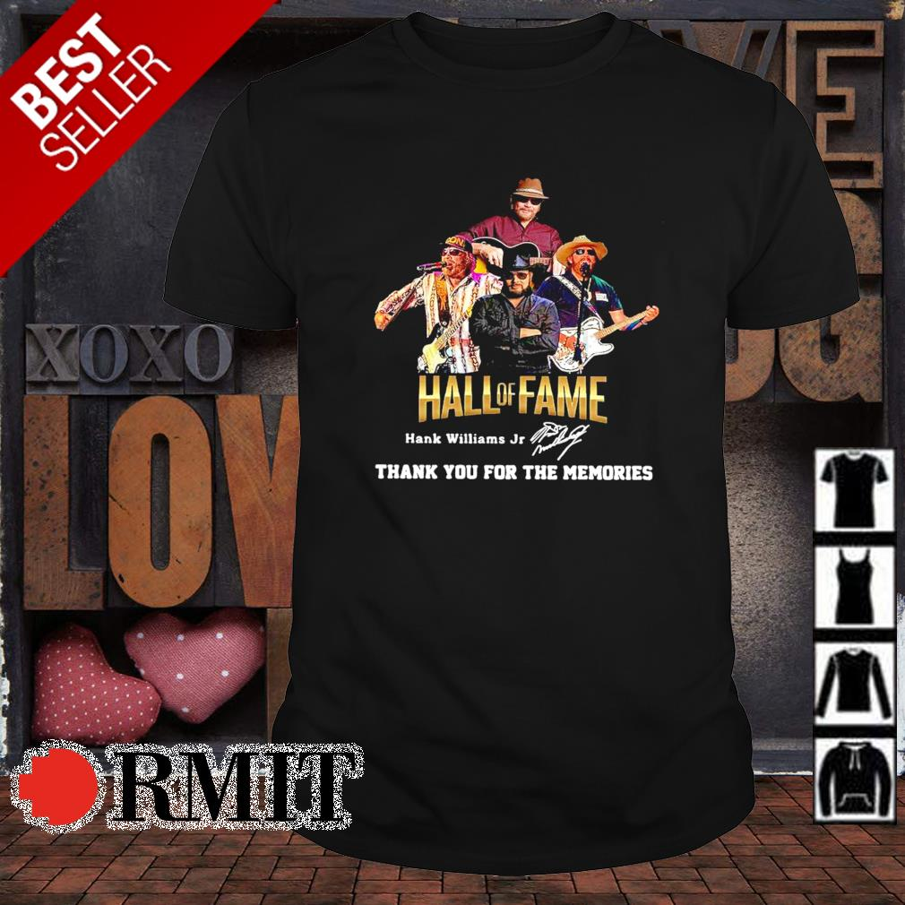Hank Williams Jr Hall of Fame thank you for the memories shirt