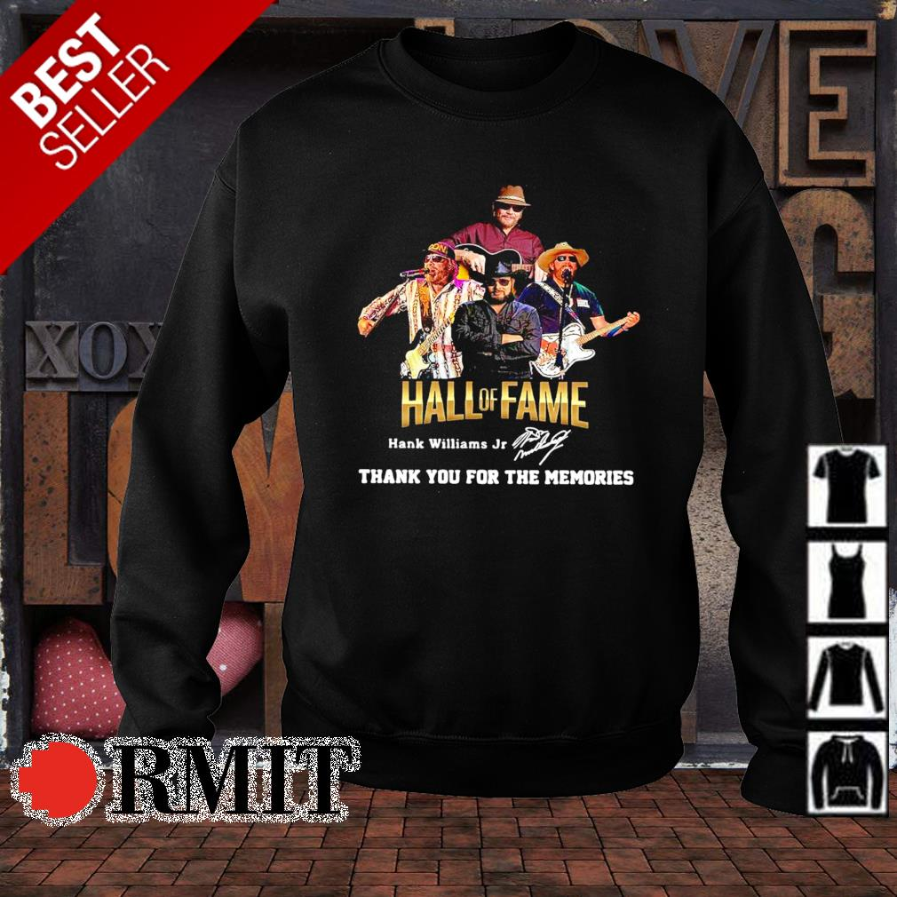 Hank Williams Jr Hall of Fame thank you for the memories s sweater1