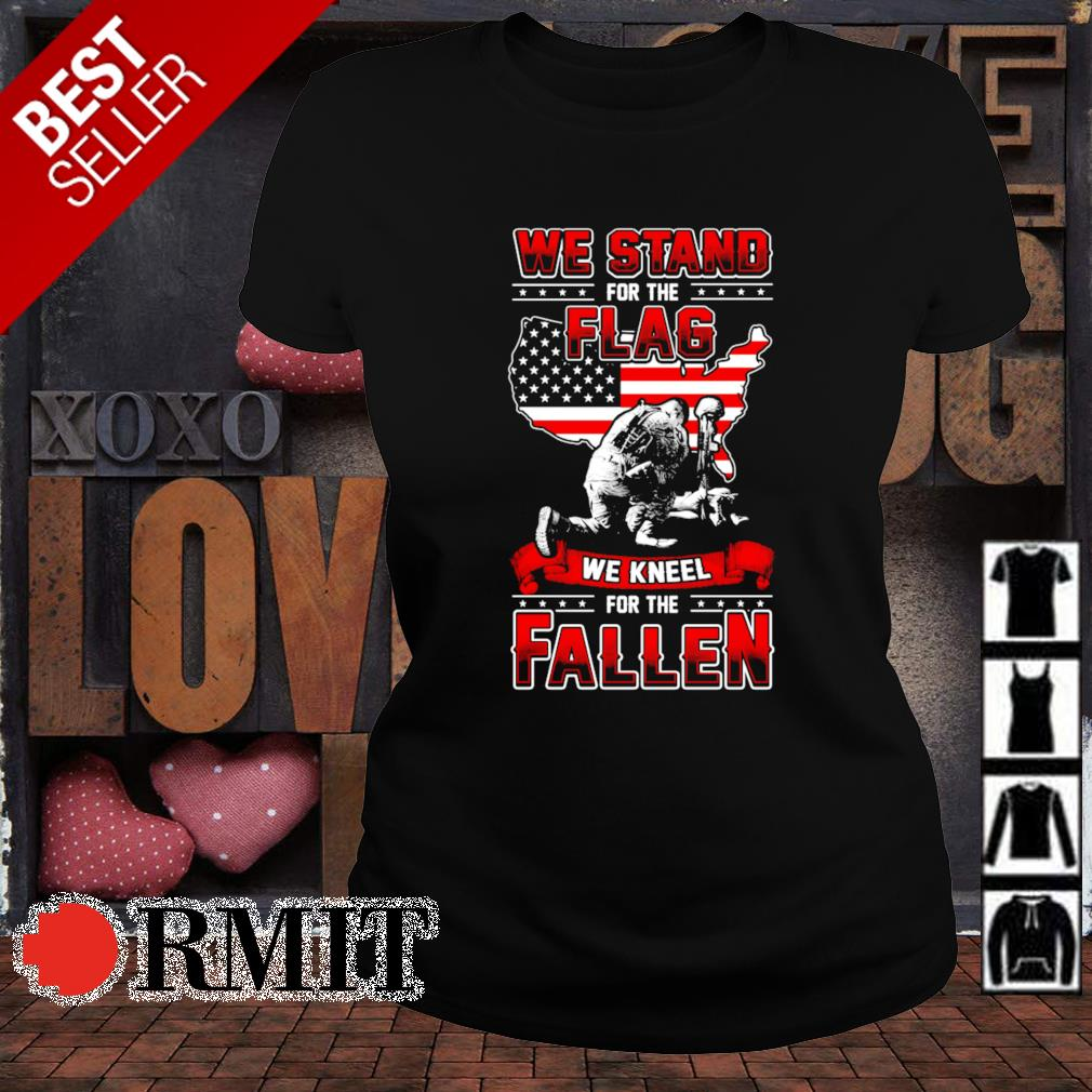 Veteran we stand for the flag we kneel for the fallen s ladies-tee1