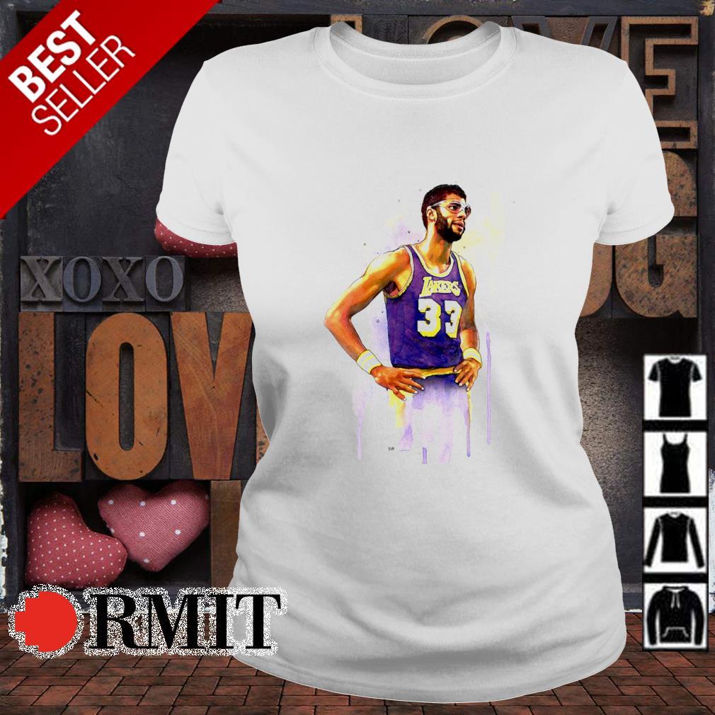 Lakers Kareem Abdul Jabbar 33 s ladies-tee