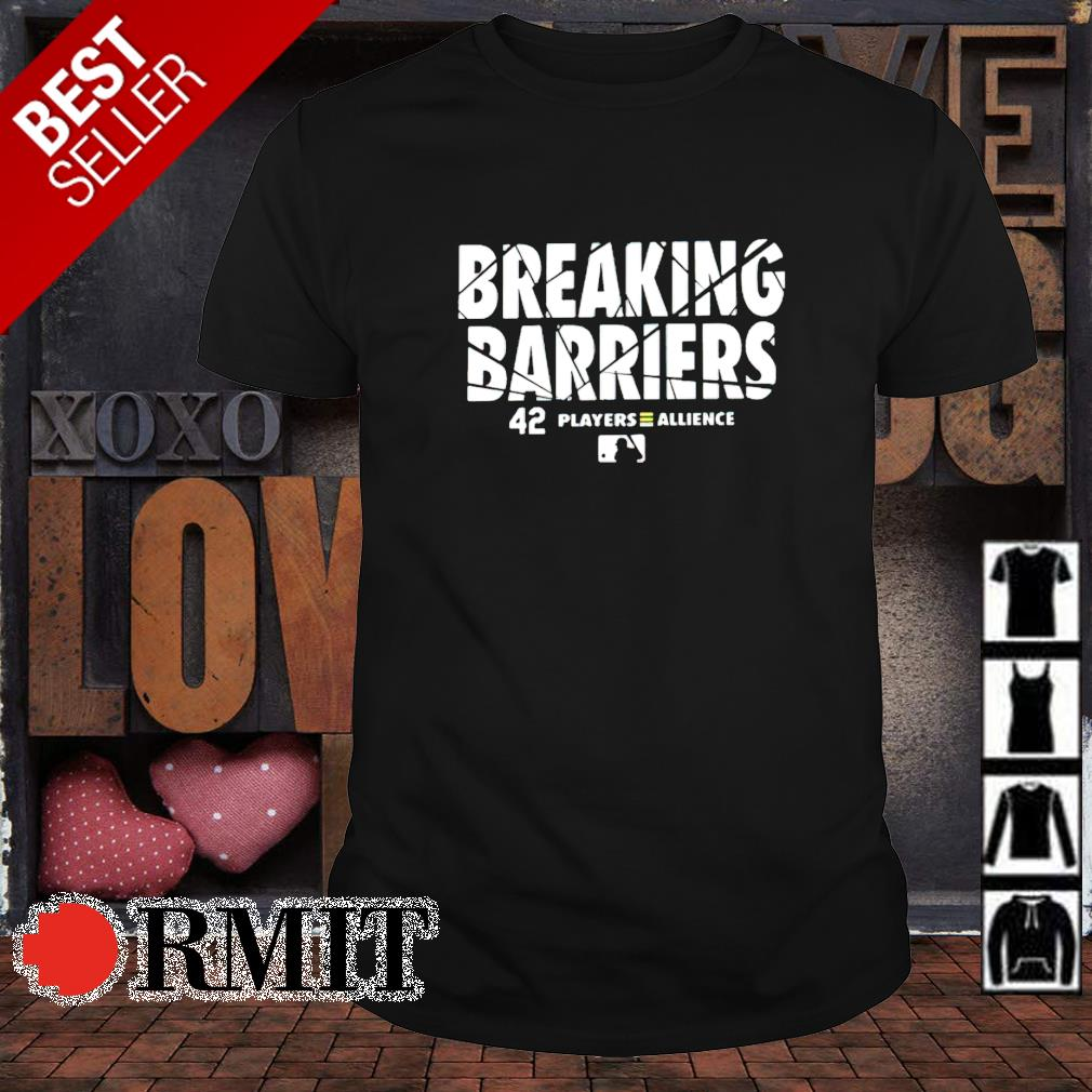Breaking barriers 42 players allience shirt