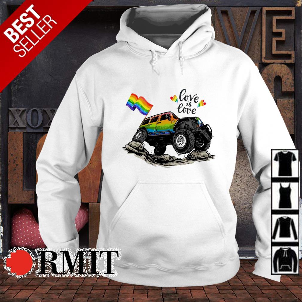 LGBT falg Jeep love is love s hoodie