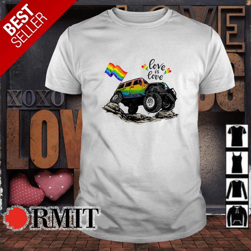 LGBT falg Jeep love is love shirt
