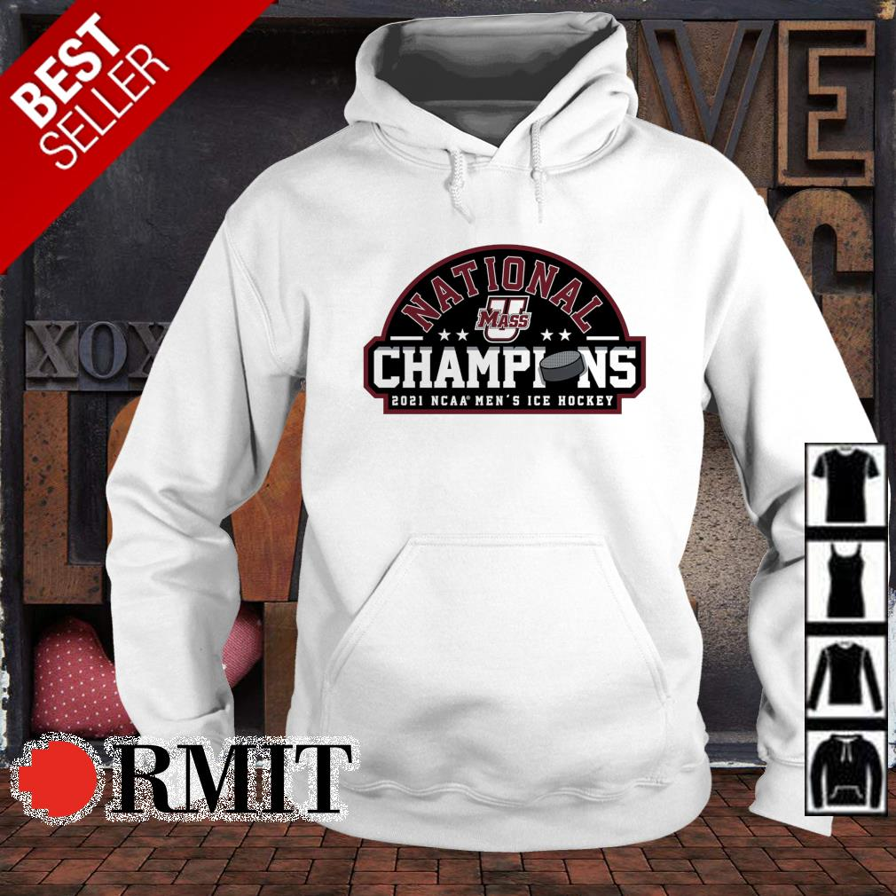 National champions 2021 UMass Minutemen NCAA men's ice hockey s hoodie