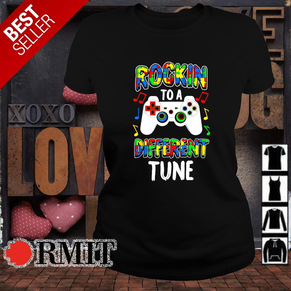Rocking to a different tune Autism s ladies-tee1