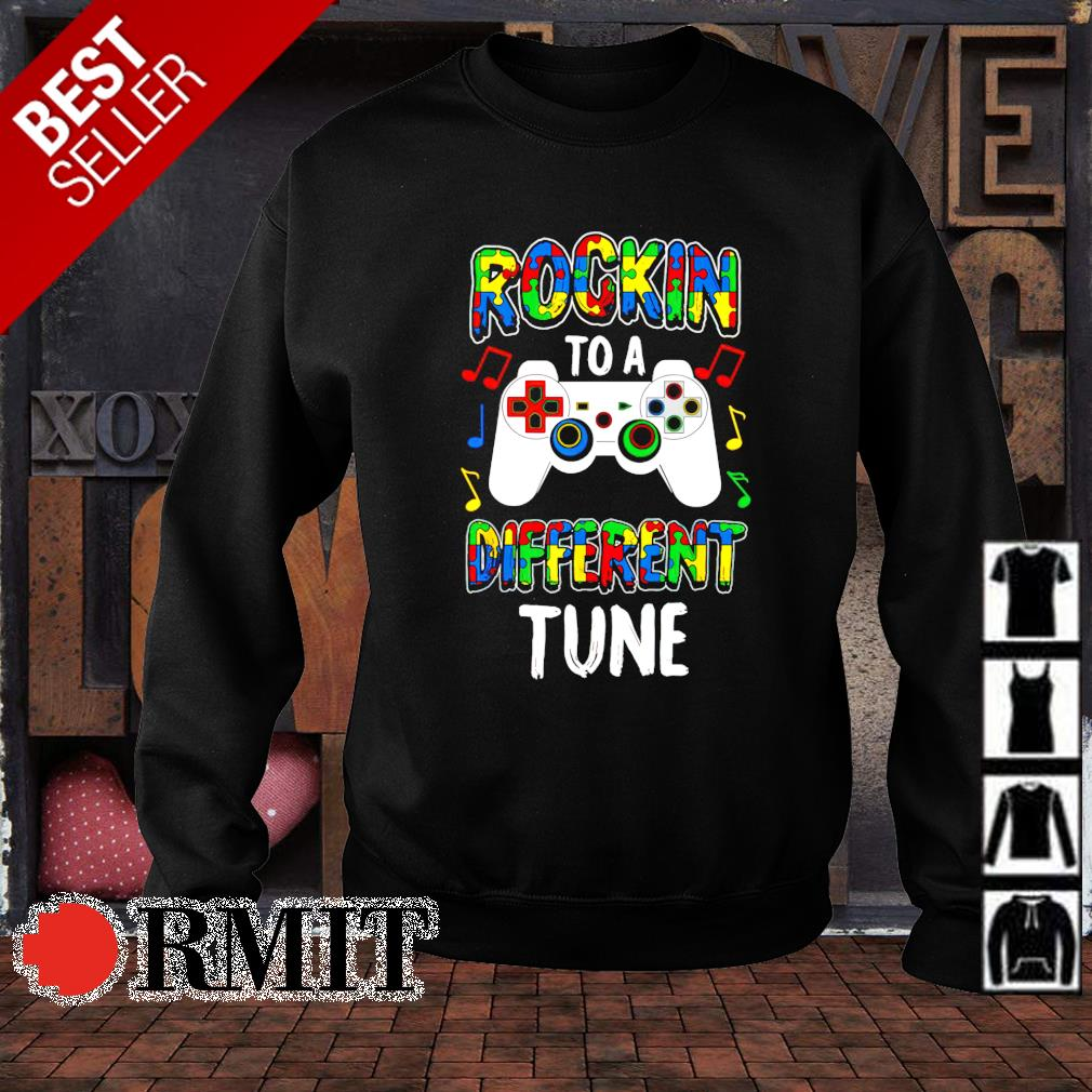 Rocking to a different tune Autism s sweater1