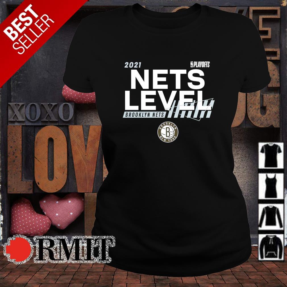 Brooklyn Nets Nets level 2021 NBA Playoffs s ladies-tee1