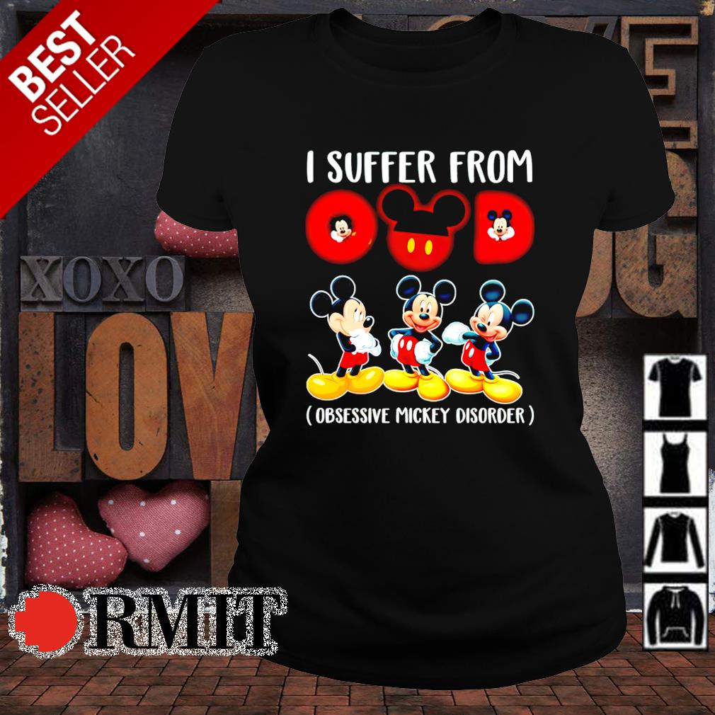 I suffer from OMD obsessive Mickey disorder s ladies-tee1