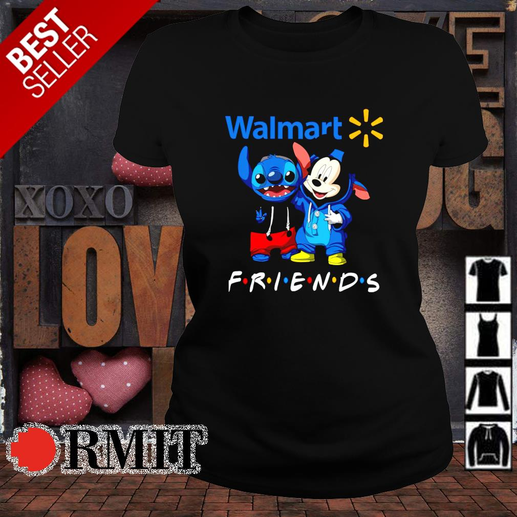 Walmart Mickey and Stitch are friends s ladies-tee1
