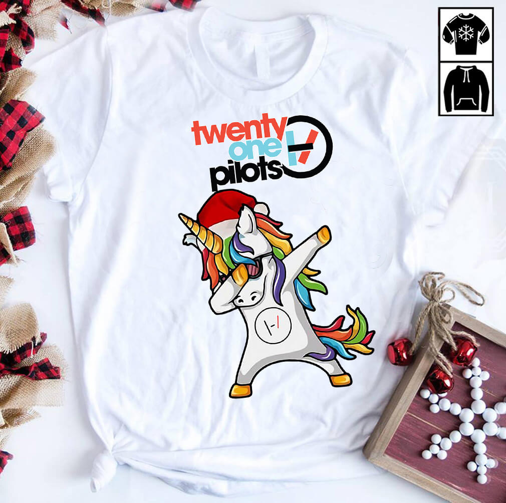 Unicorn Twenty one pilots Christmas shirt