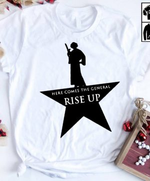 Star Wars Leia Here comes the general rise up ash shirt
