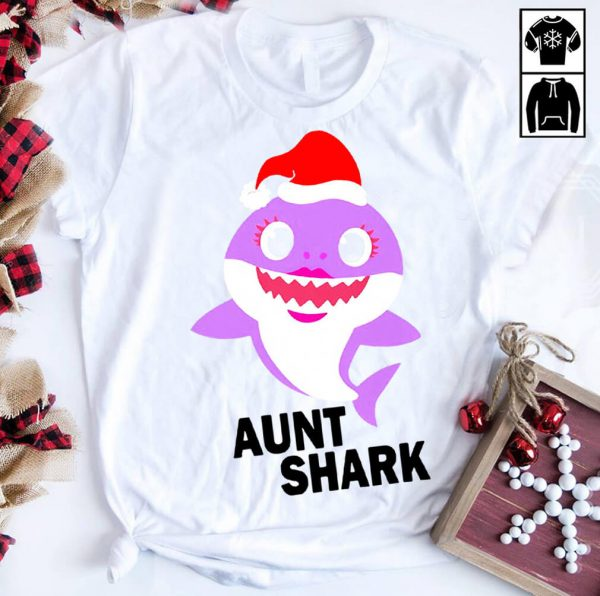 Aunt shark Christmas shirt