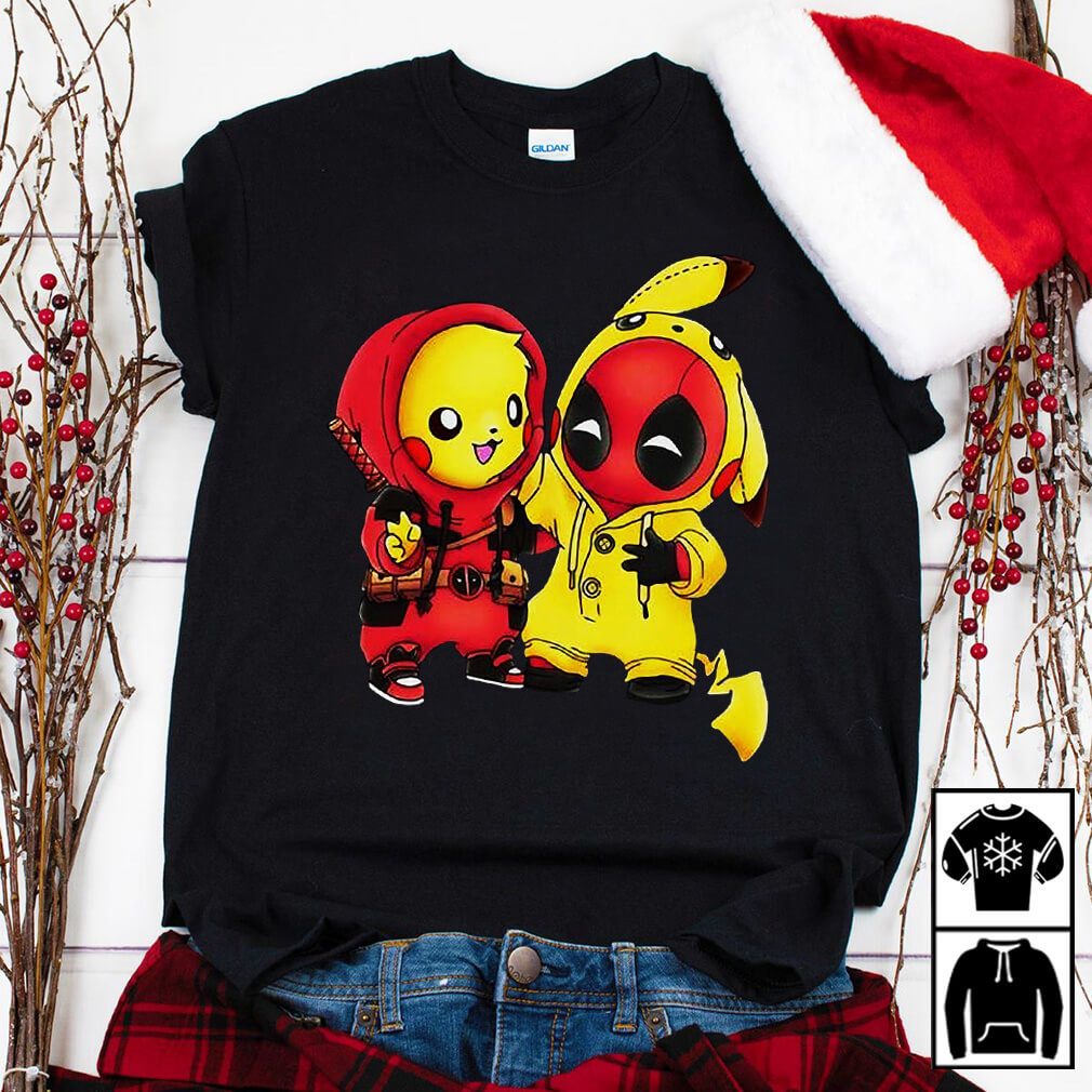Baby Pikapool Pikachu and Deadpool shirt