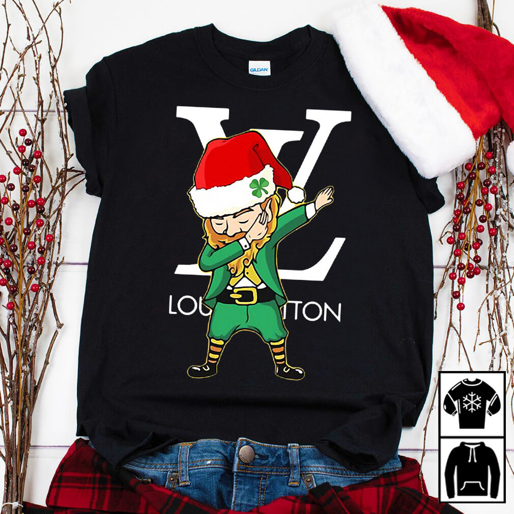 Christmas Saint Patrick Elf Leprechaun Dabbing Louis Vuitton shirt