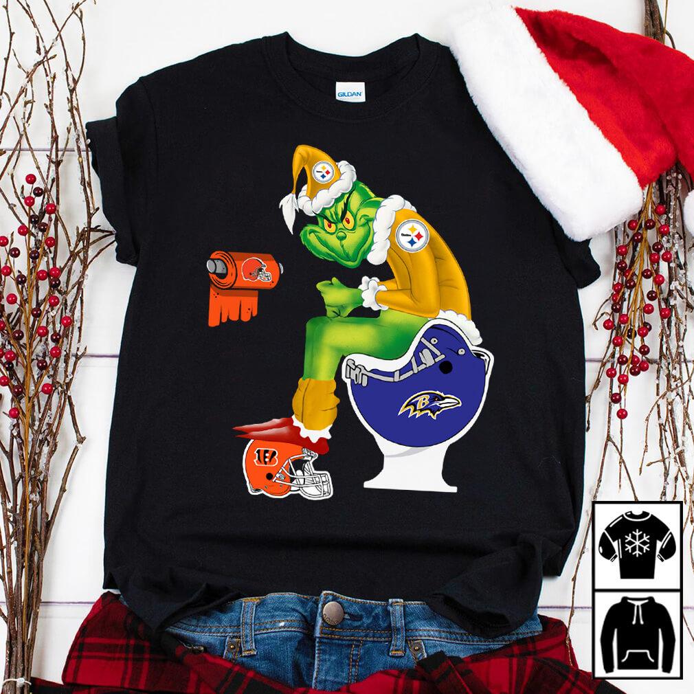 Santa Grinch Pittsburgh Steelers toilet shirt