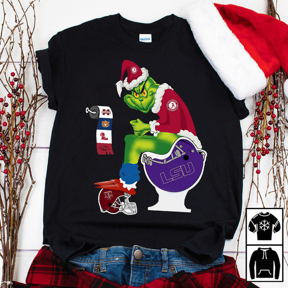 Santa Grinch Alabama Crimson Tide toilet shirt