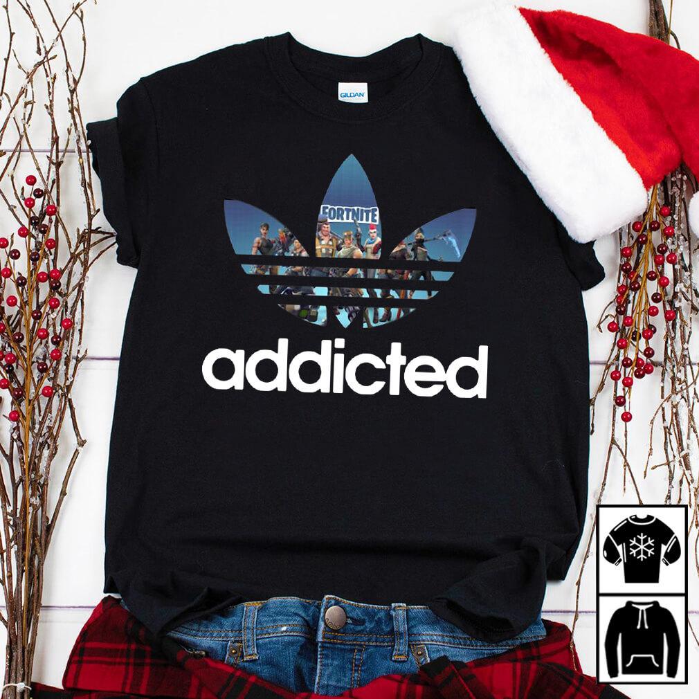 Fortnite Addicted Game Adidas shirt