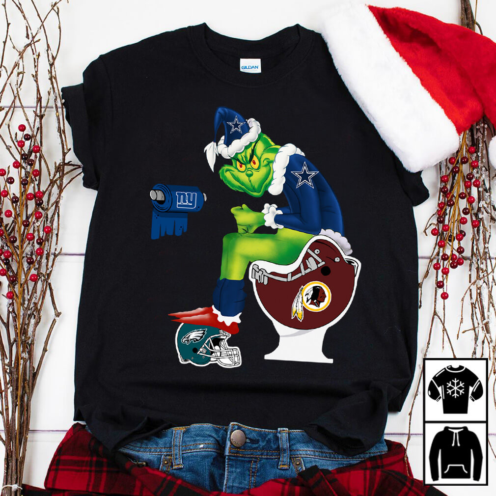 Santa Grinch Dallas Cowboys toilet shirt