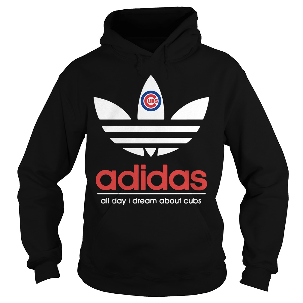 Adidas Chicago Cubs all day I dream about cubs black Hoodie