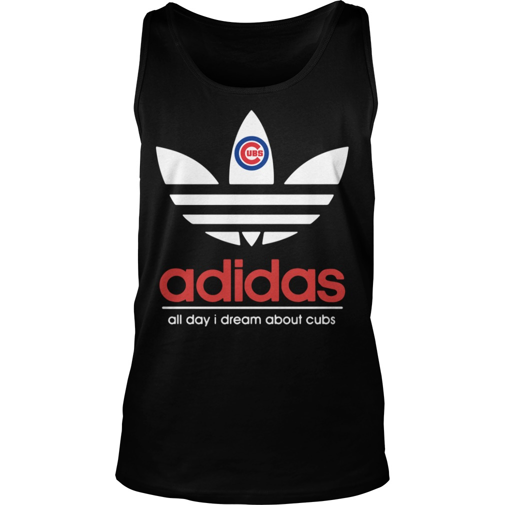 Adidas Chicago Cubs all day I dream about cubs black Tank Top