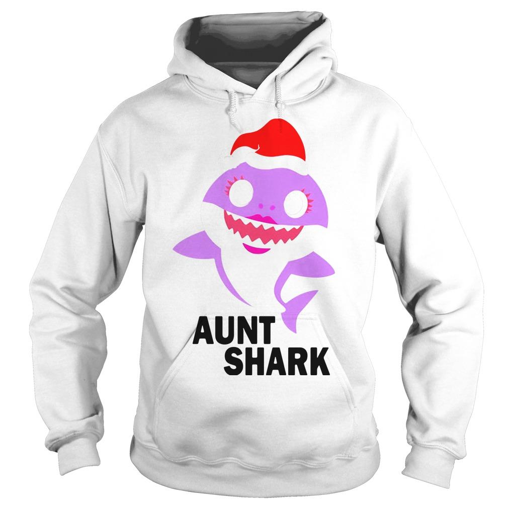 Aunt shark Christmas Hoodie