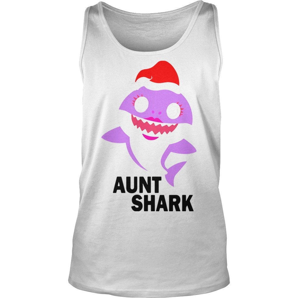 Aunt shark Christmas Tank Top