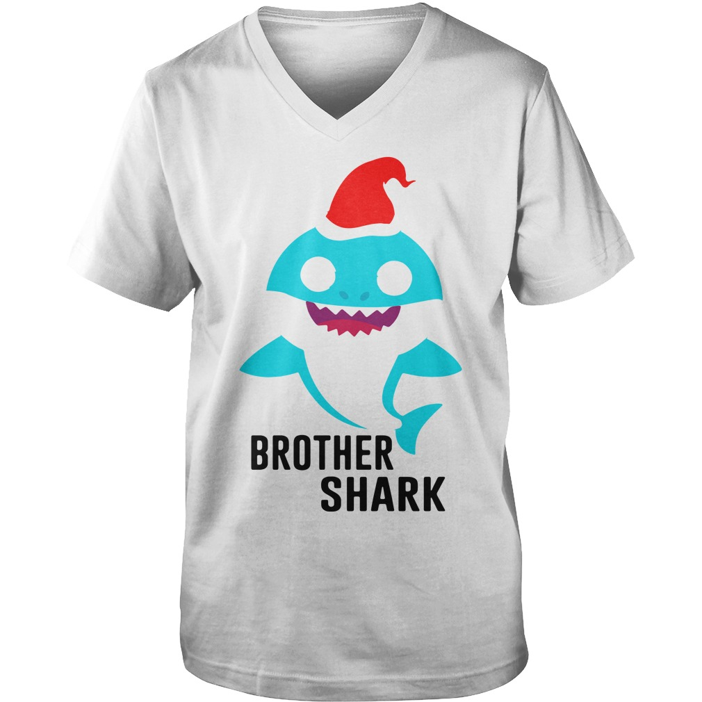 Brother shark Christmas Guy V-Neck