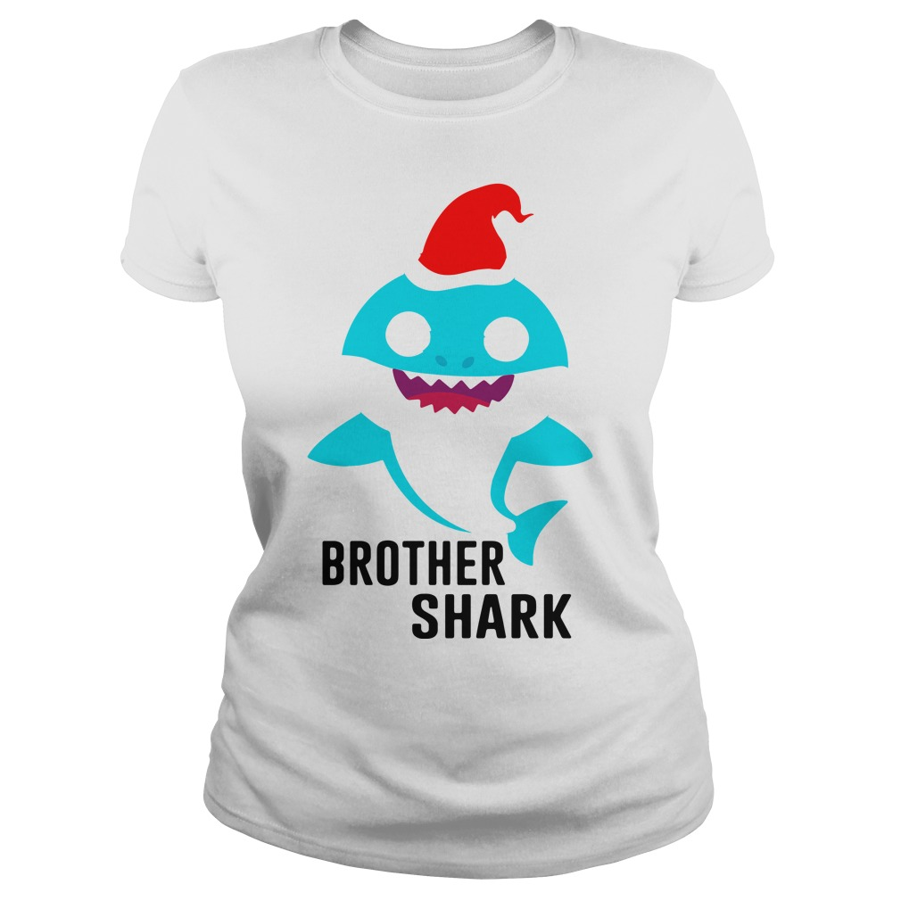 Brother shark Christmas Ladies Tee