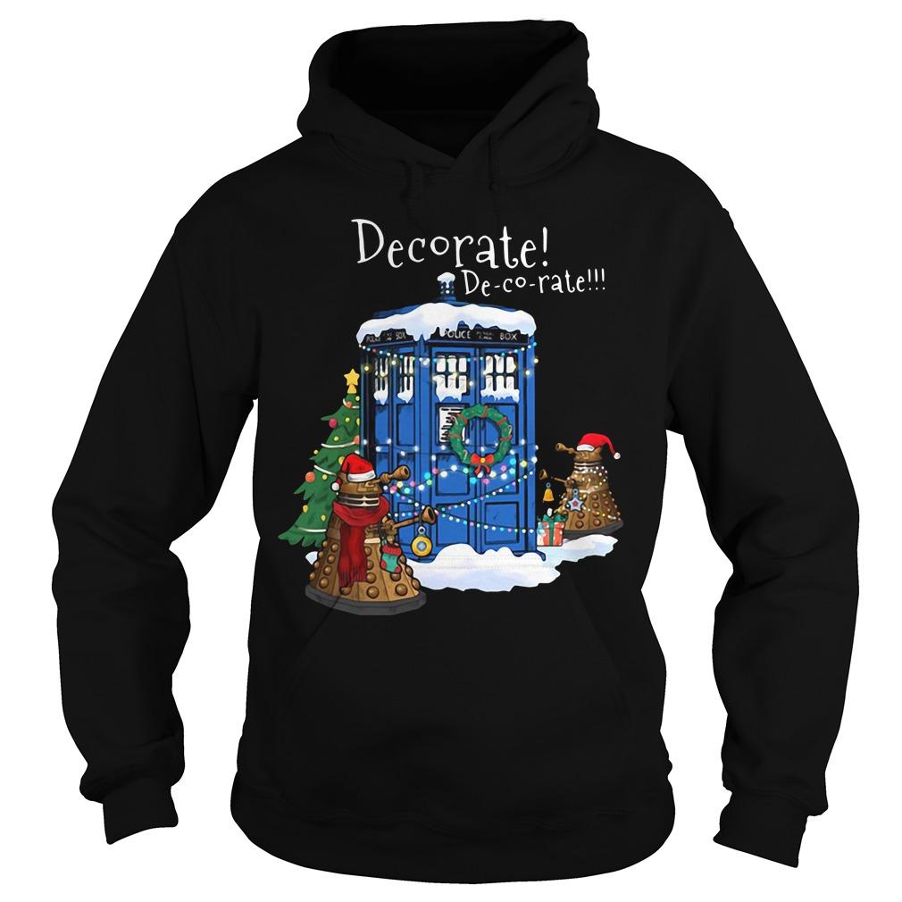Christmas doctor who Dalek decorate Tardis tree Hoodie