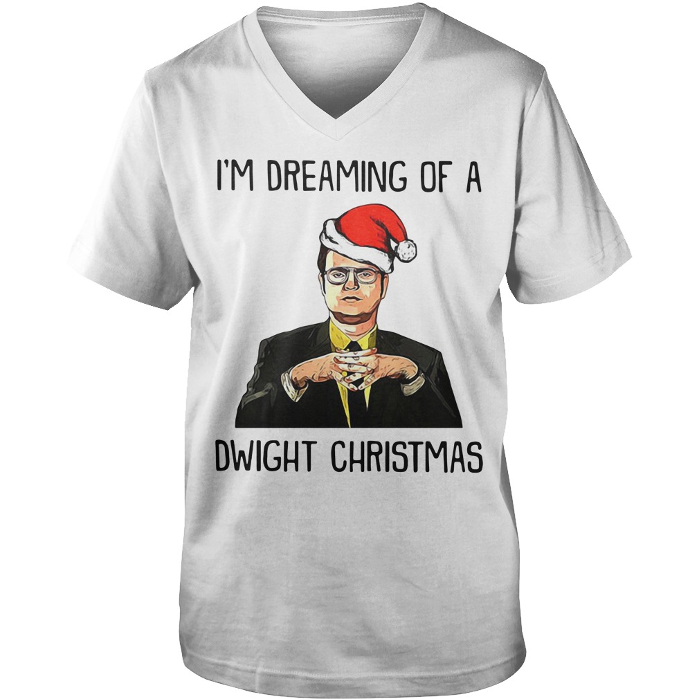 Christmas Dreaming of a Dwight Schrute Ash Guy V-Neck