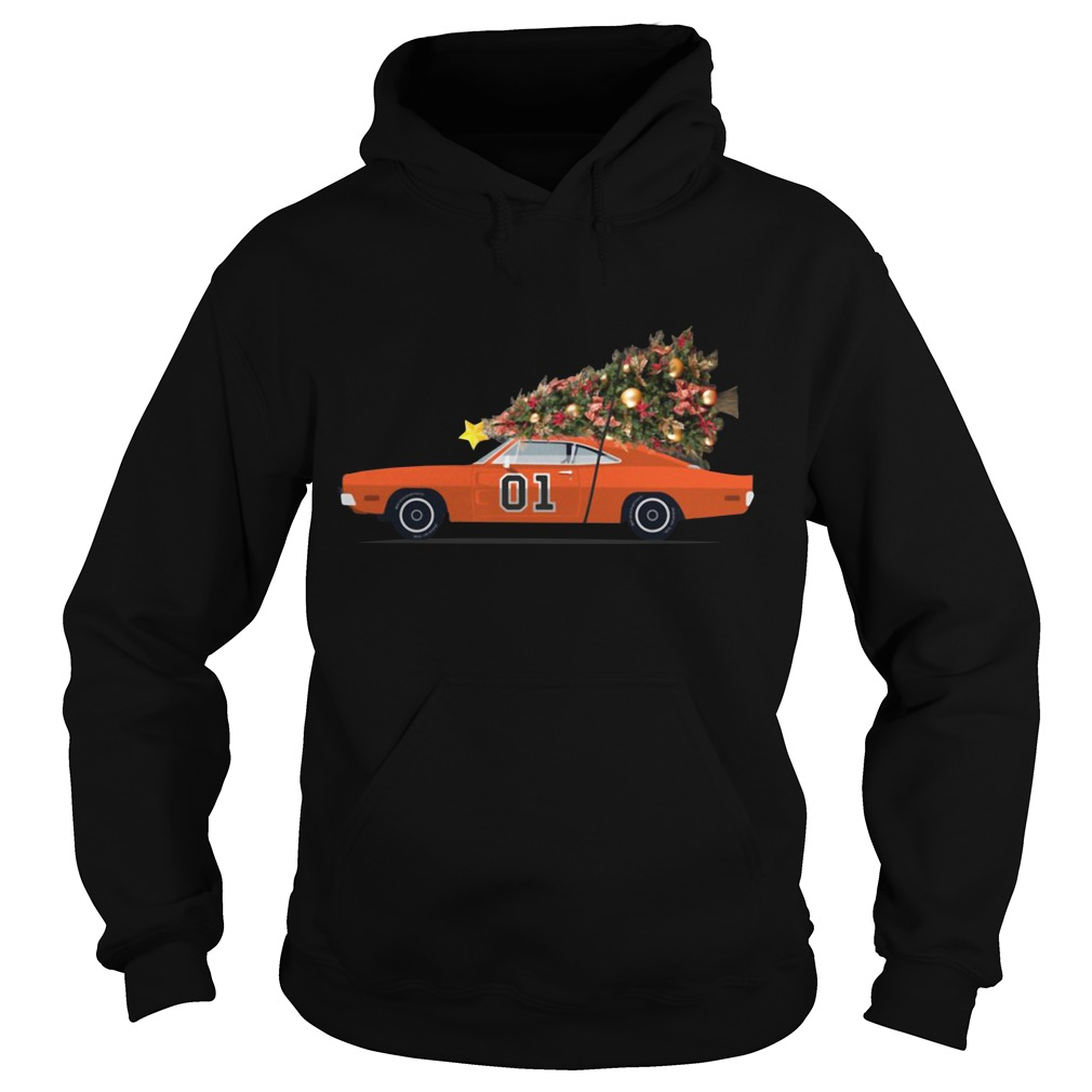The General Lee car Christmas tree Hoodie