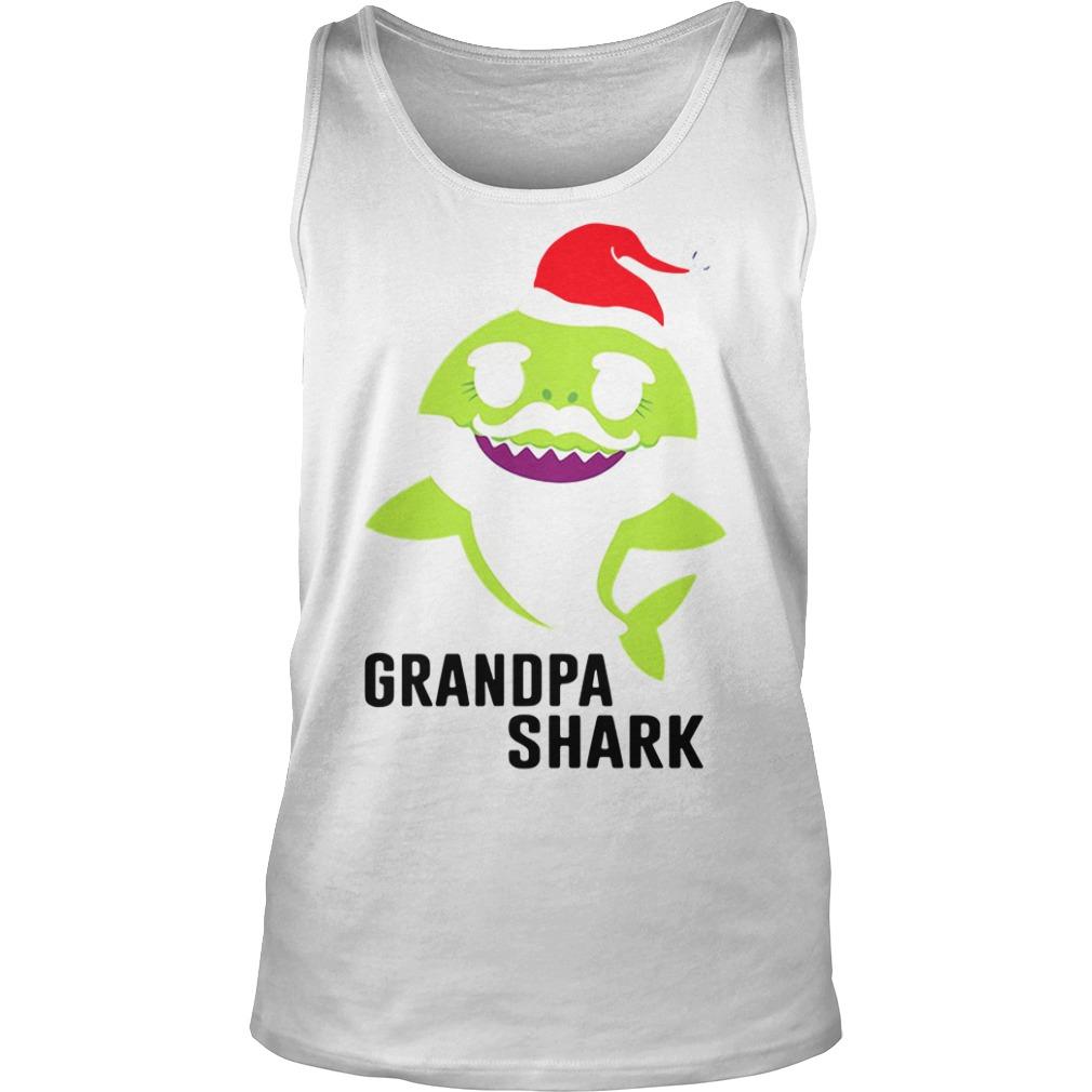 Grandpa shark Christmas Tank Top