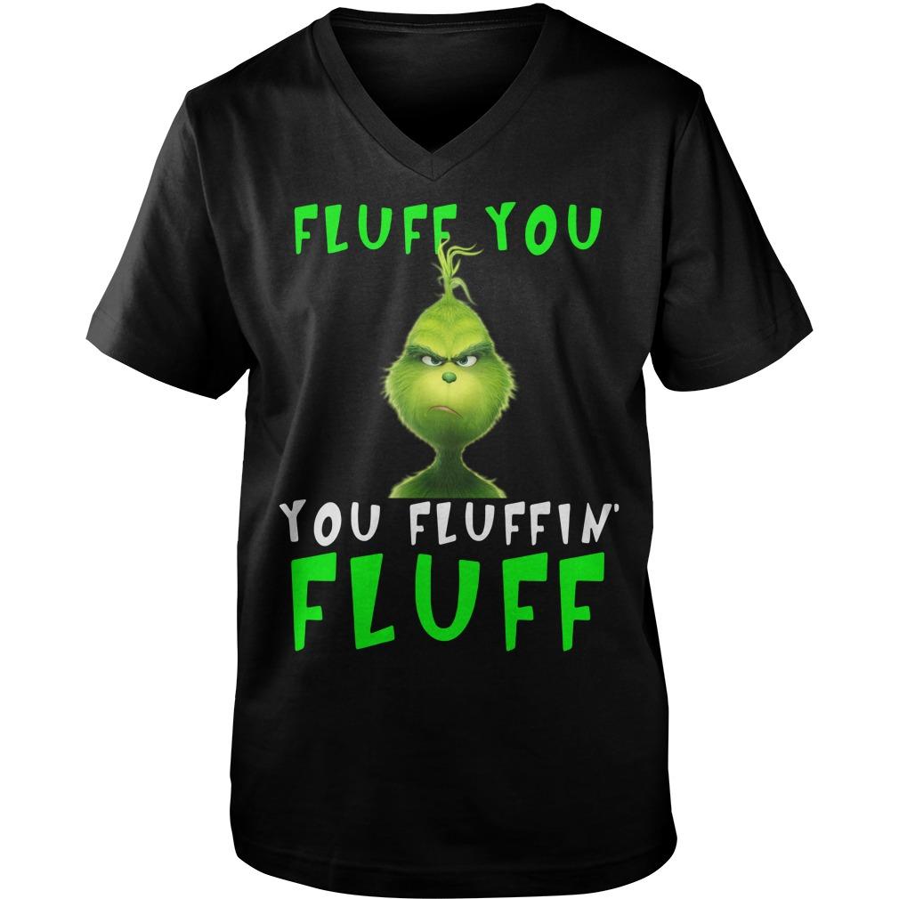 Grinch Fluff you Fluffin' Fluff black Guy V-Neck