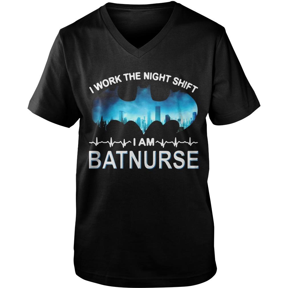 I work the night shift I am batnurse Guy V-Neck