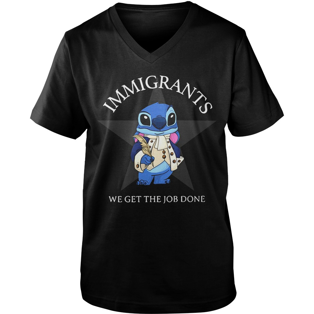 Immigrants we get the job done Stitch Guy V-Neck