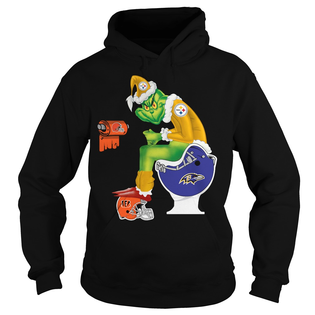Santa Grinch Pittsburgh Steelers toilet Hoodie