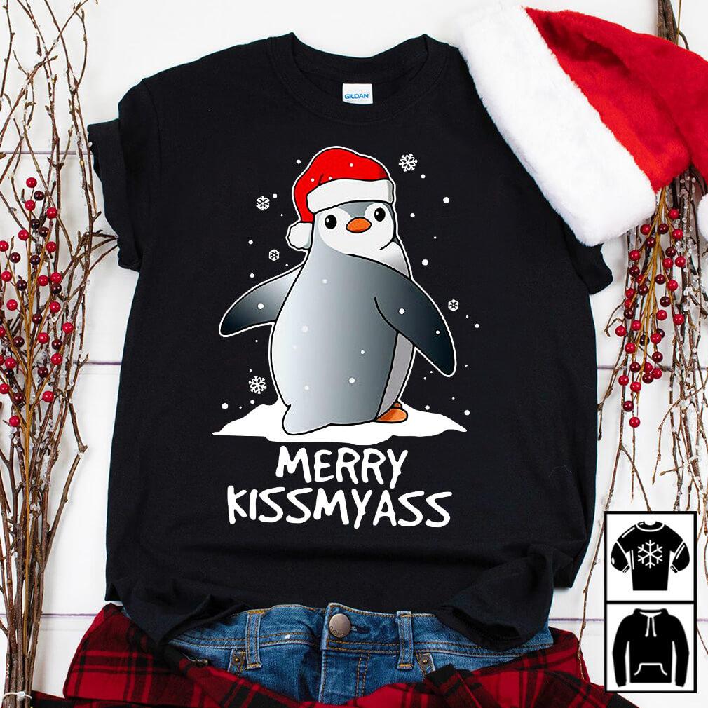 Penguin Merry Kissmyass Christmas shirt