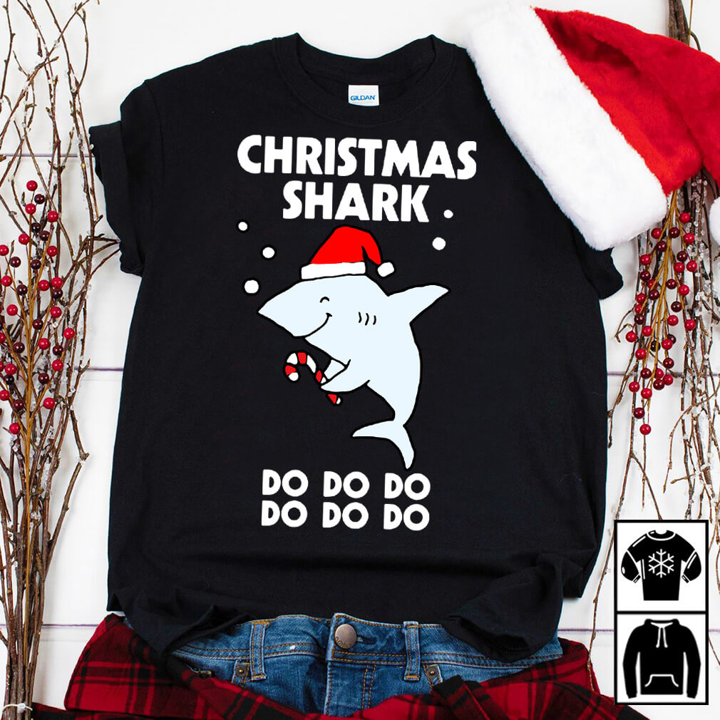 Christmas shark do do do do do do shirt