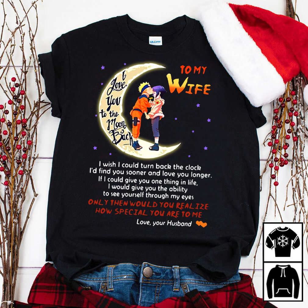 Naruto husband to wife love you to moon and back shirt