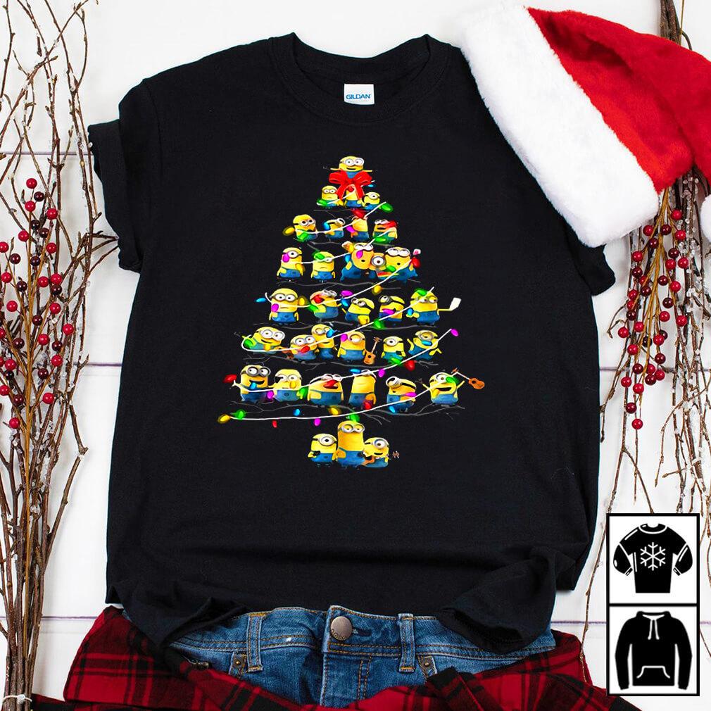 Minions Christmas tree shirt
