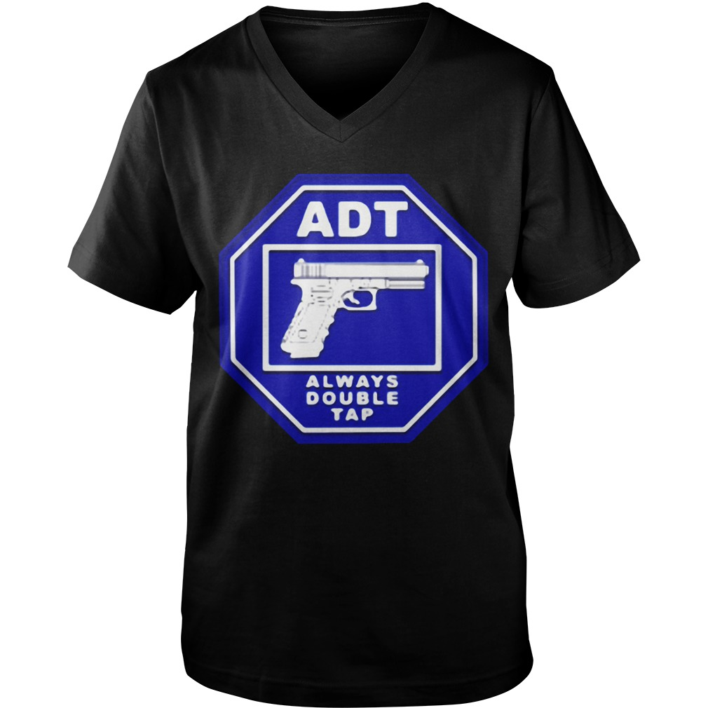 ADT always double tap Guy V-Neck