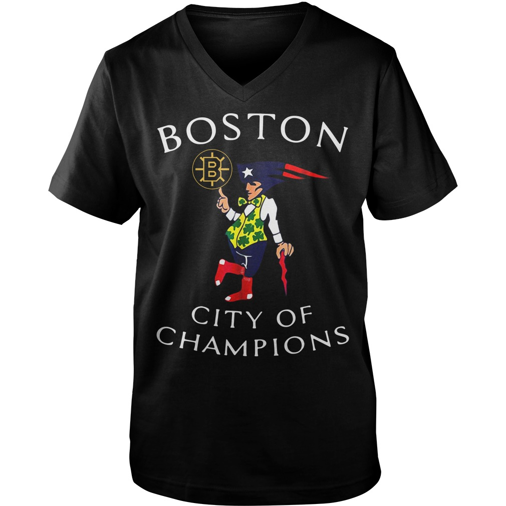 Boston Sports Teams city of champions shirtBoston Sports Teams city of champions Guy V-Neck