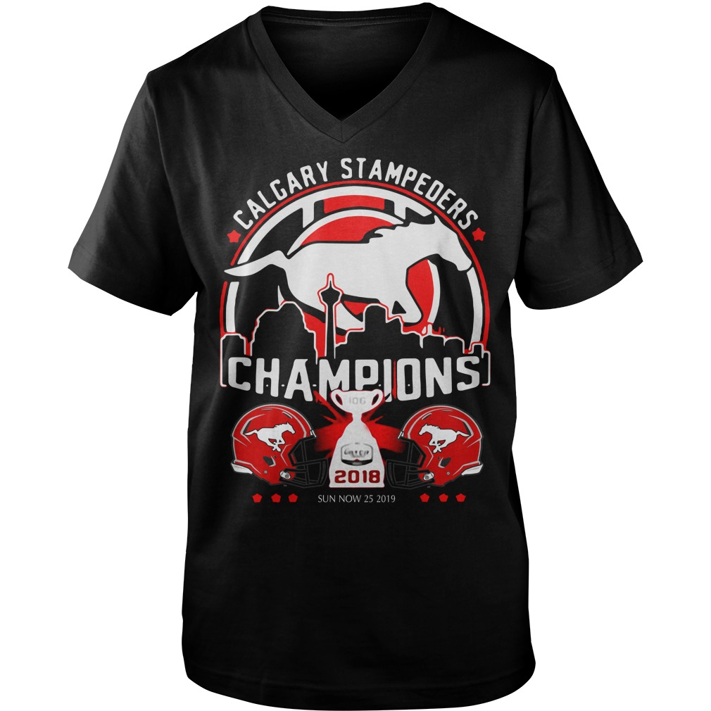 Calgary Stampeders Champions 2018 Guy V-Neck