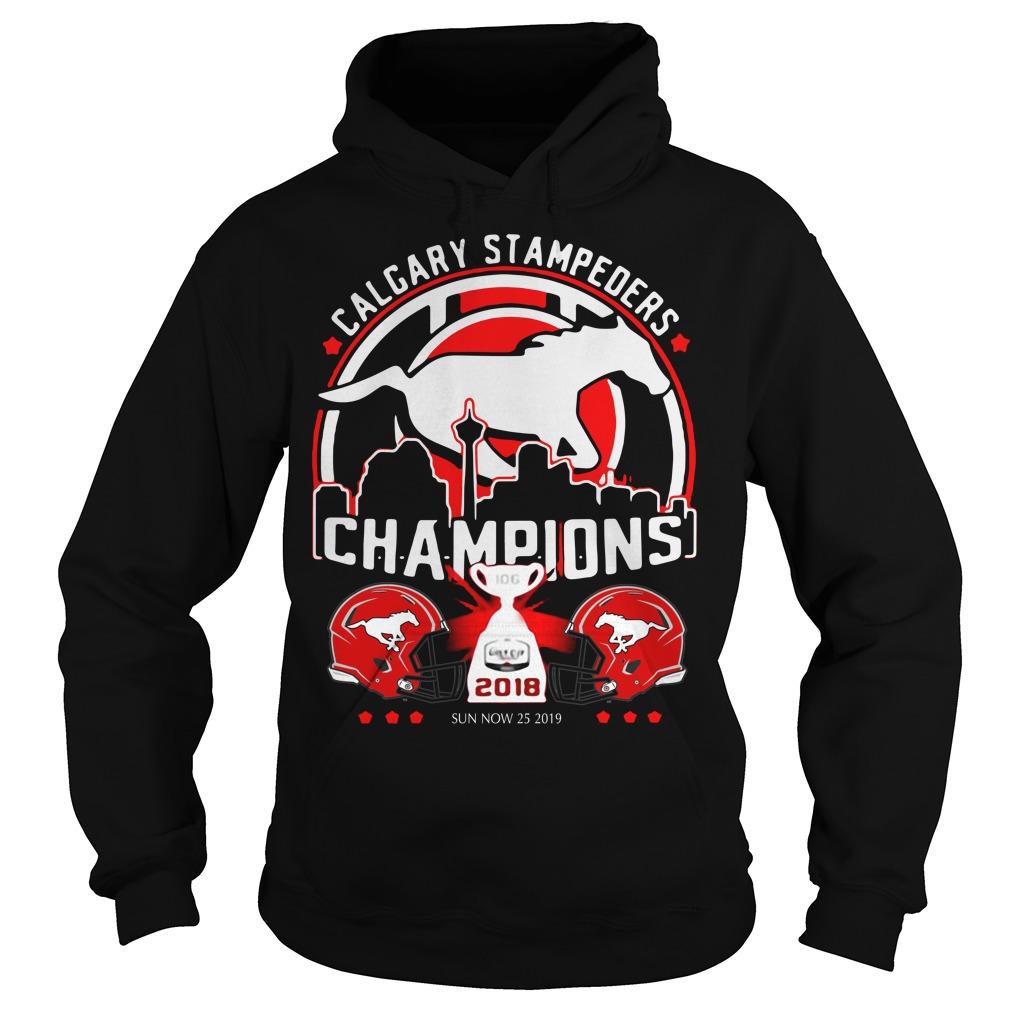Calgary Stampeders Champions 2018 Hoodie