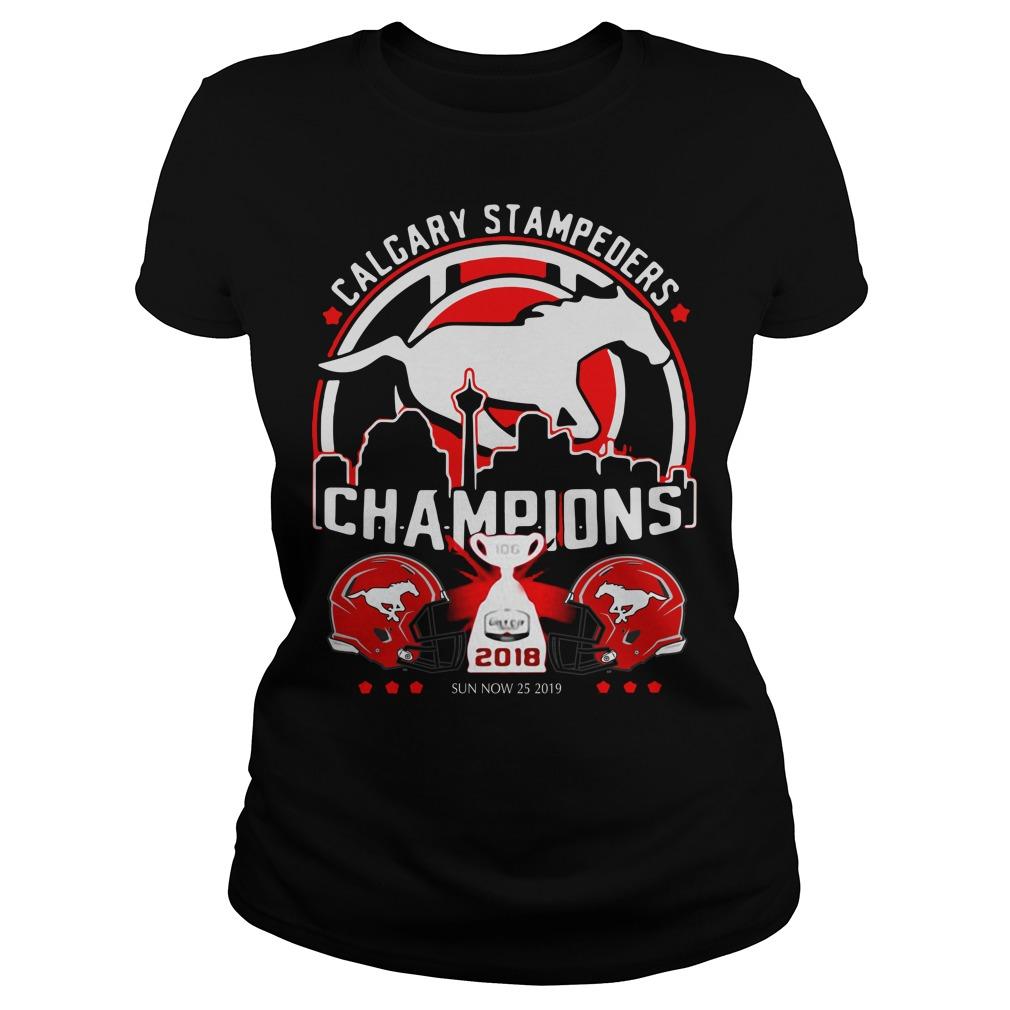 Calgary Stampeders Champions 2018 Ladies Tee