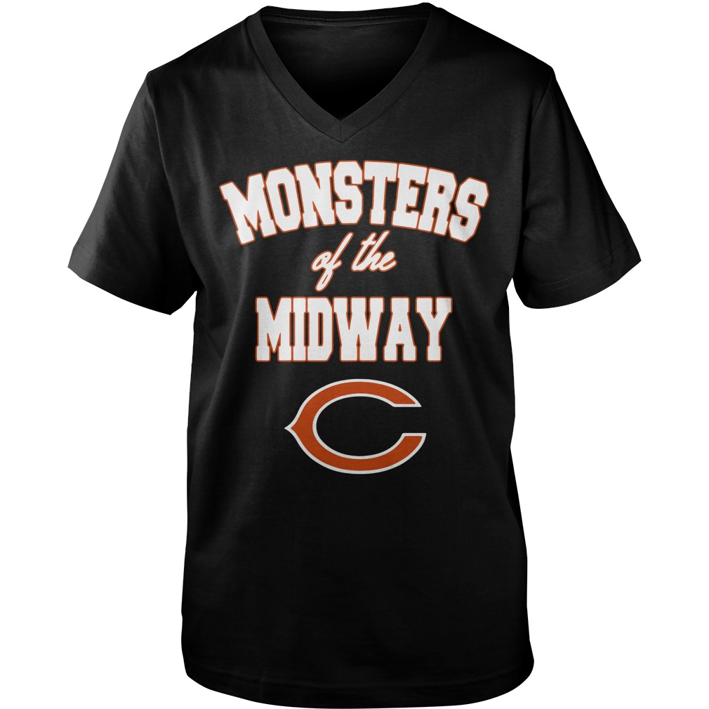 Chicago Bears Monster of the midway Guy V-Neck
