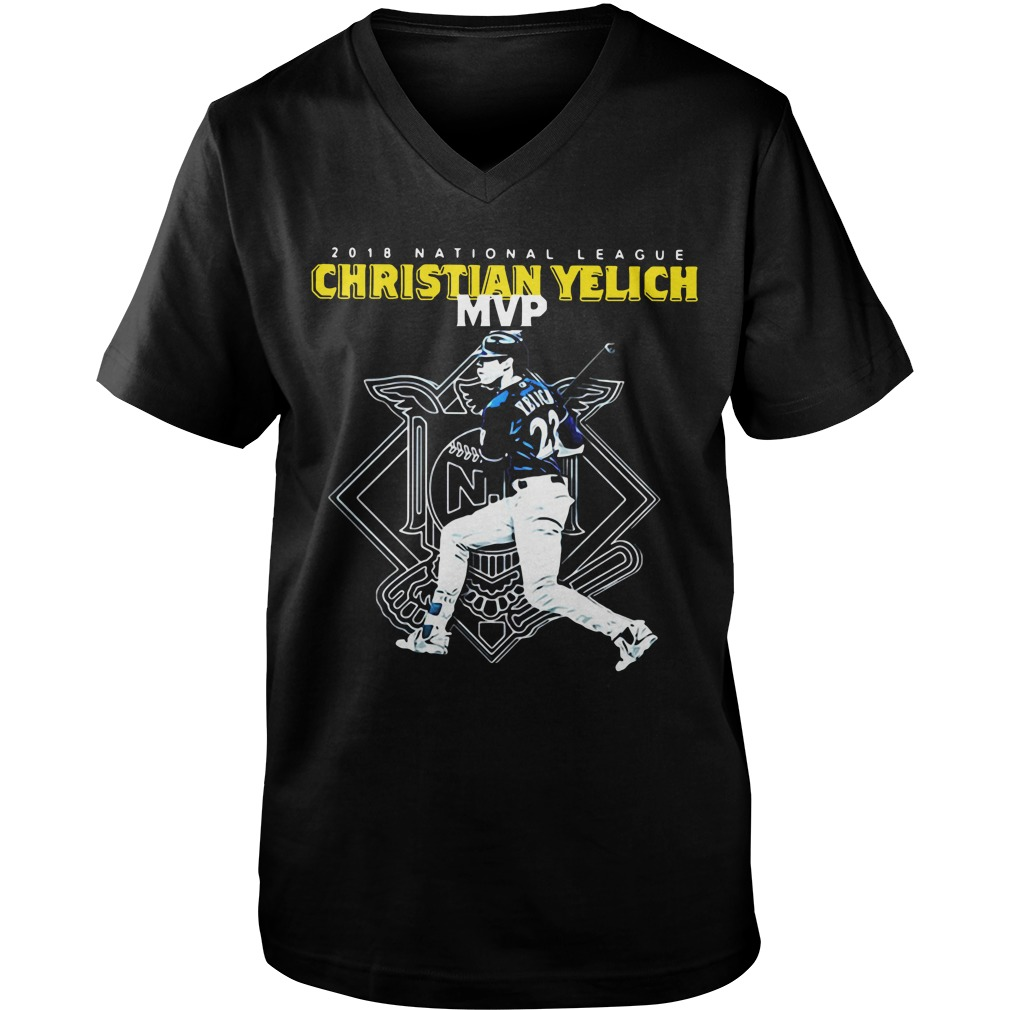 Christian Yelich MVP 2018 national league Guy V-Neck