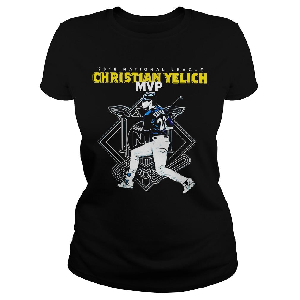 Christian Yelich MVP 2018 national league Ladies Tee