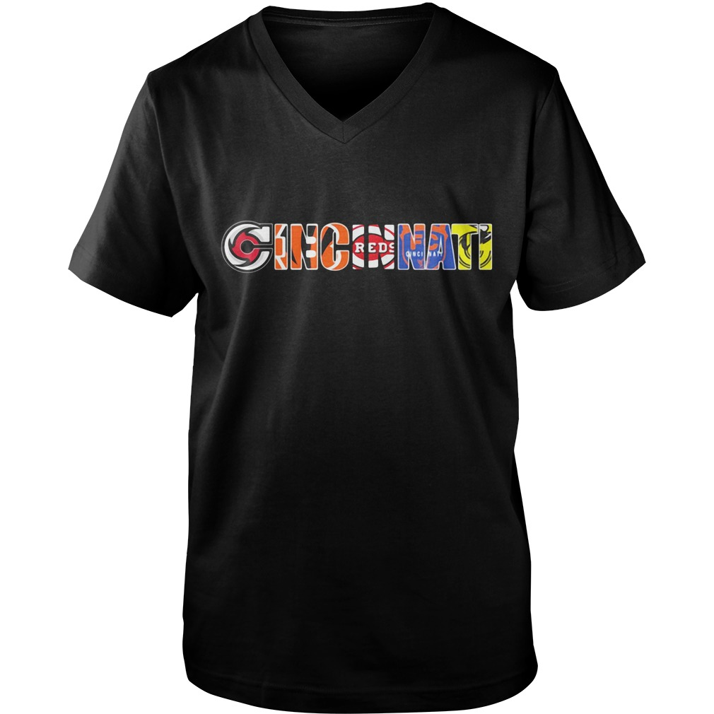 Cincinnati sport teams Guy V-Neck